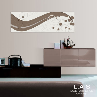 Abstract wall sculptures </br> Code: SI-108-B | Size: 180x58 cm </br> Colour: dove gray-cream-wood engraving