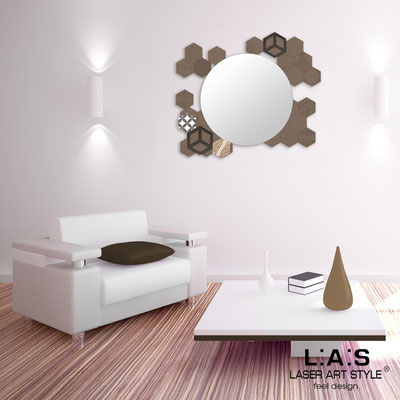 Mirrors </br> Code: SI-330 | Size: 90x75 cm </br>  Colour: dove grey-brown decoration-matched engraving