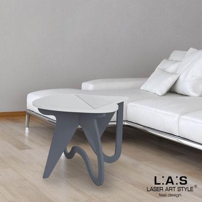 Complementi d'arredo </br> Codice: SI-373 | Misura: 60x60 h50 cm </br> Colore: grigio luce-antracite-incisione legno