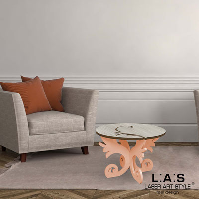 Furnishings </br> Code: MG-288   Size: 60x60 h40 cm </br> Colour: grey wood-salmon