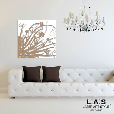 Abstract wall sculptures </br> Code: SI-107Q | Size: 90x90 cm </br> Colour: white-hazel