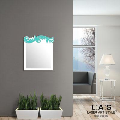 Specchiere </br> Codice: SI-319 | Misura: 60x70 cm </br>  Colore: bianco-turchese