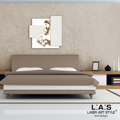 Quadri Sacri </br> Codice:  SI-161 | Misura: 60x60 cm </br>  Colore: bianco-panna-incisione legno