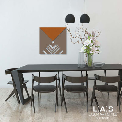 Abstract wall sculptures </br> Code: SI-341 | Size: 60x60 cm </br> Colour: dove grey-copper