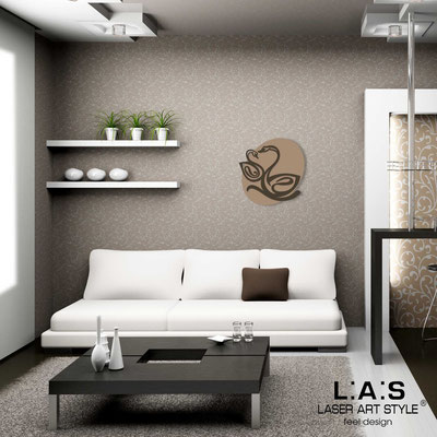 Figurative wall sculpture </br> Code: SI-241L | Size: 63x63 cm </br> Code: SI-241XL | Size: 88x88 cm </br> Colour: hazel-brown
