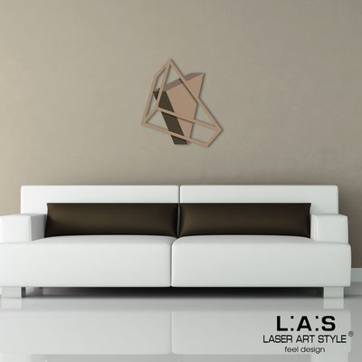 Abstract wall sculptures </br> Code: SI-303 | Size: 60x65 cm </br> Colour: hazel-dove grey-brown/hazel