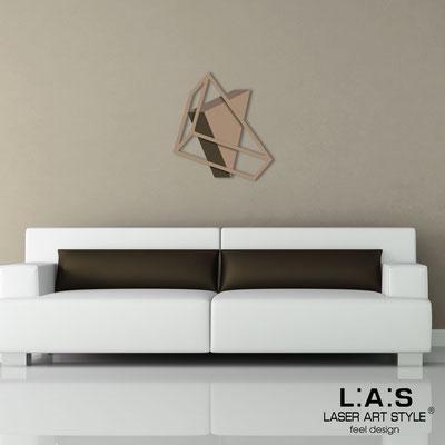 Abstract wall sculptures </br> Code: SI-303 | Size: 60x65 cm </br> Colour: hazel-dove grey-brown/hazel