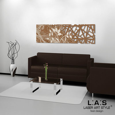 Abstract wall sculptures </br> Code: SI-110-B | Size: 148x50 cm </br> Colour: bronze-cream engraving