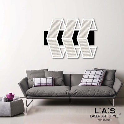 Abstract wall sculptures </br> Code: SI-307 | Size: 125x90 cm </br> Colour: black-white-wood engraving