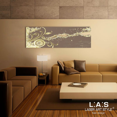 Abstract wall sculptures </br> Code: SI-092-B | Size: 180x58 cm </br> Colour: dove grey-gold leaf decoration-matched engraving