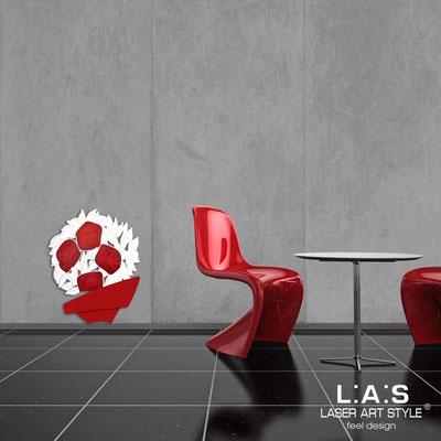 Quadri Floreali </br>  Codice: SI-182-A | Misura: 58x70 cm </br>  Colore: rosso-decoro rosso-incisione legno