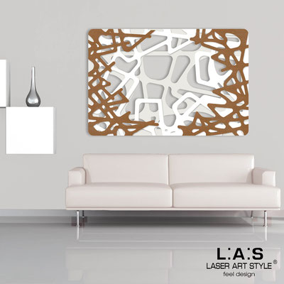 Abstract wall sculptures </br> Code: SI-144 | Size: 150x100 cm </br> Colour: cream-white-bronze