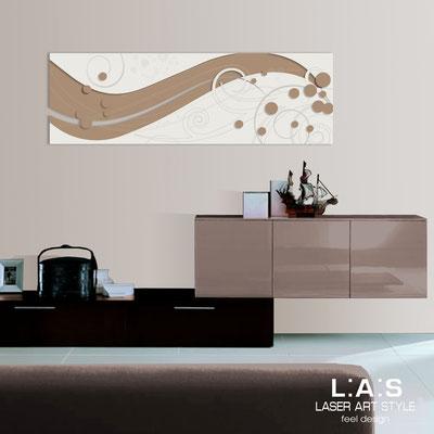 Quadri Astratti </br> Codice: SI-108-B | Misura: 180x58 cm </br> Colore: nocciola-panna-incisione legno