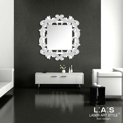 Specchiere </br> Codice: SI-247-SP | Misura: 100x110 cm </br>  Colore: bianco-argento