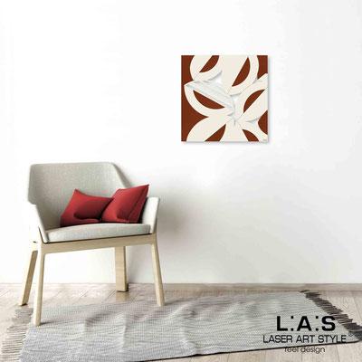 Quarantotto </br>  Codice: Q-017 | Misura: 48x48 cm </br> Colore: decoro beige-ruggine-incisione legno