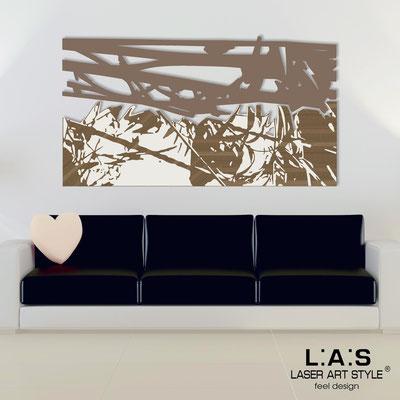 Quadri Astratti </br> Codice: SI-149 | Misura: 2pz 180x100 cm </br> Colore: grigio marrone-panna-incisione legno