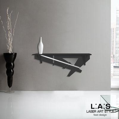 Complementi d'arredo </br> Codice: SI-291 | Misura: 110x30 cm </br> Colore: nero-acciaio inox-incisione tono su tono