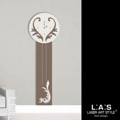 Orologi </br> Codice: SI-244OR | Misura: 60x180 cm </br>  Colore: grigio marrone-panna-incisione legno