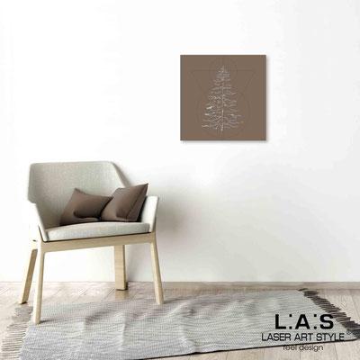 Quarantotto </br>  Codice: Q-010 | Misura: 48x48 cm </br> Colore: grigio marrone-incisione legno