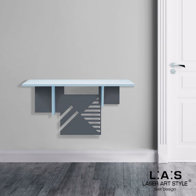 Furnishings </br> Code: SI-361   Size: 90x30 cm </br> Colour: grey light blue-charcoal grey-wood engraving