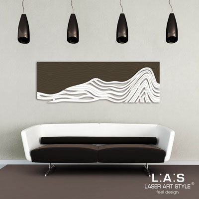 Figurative wall sculpture </br> Code: SI-178 | Size: 180x60 cm </br> Colour: brown-white-wood engraving