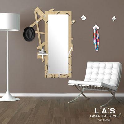 Complementi d'arredo </br> Codice: MW-293 | Misura: 100x150 cm </br> Colore: natural wood-bianco-acciaio inox