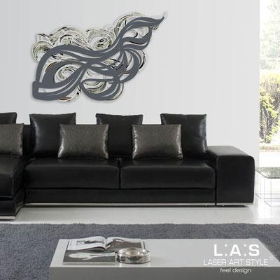 Quadri Astratti </br> Codice: SI-171 | Misura: 150x100 cm </br> Colore: grigio luce-antracite-incisione nero