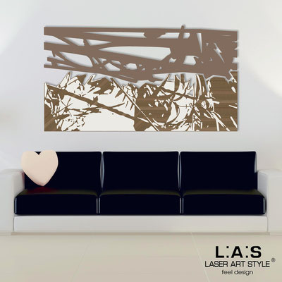 Abstract wall sculptures </br> Code: SI-149 | Size: 2pz 180x100 </br> Colour: dove grey-cream-wood engraving