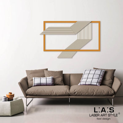 Abstract wall sculptures </br> Code: SI-306 | Size: 120x75 cm </br> Colour: cream-light orange-wood engraving
