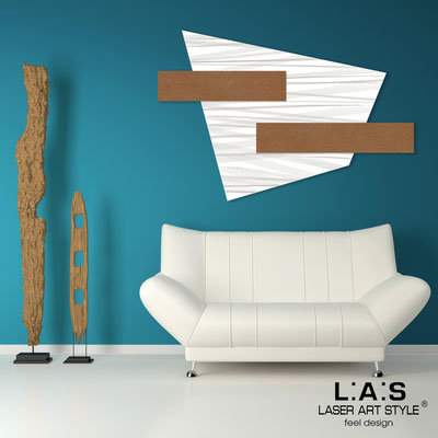Abstract wall sculptures </br> Code: SI-189 | Size: 150x100 cm </br> Colour: white-bronze-wood engraving