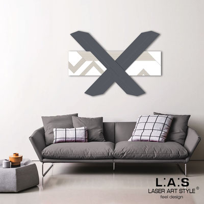 Abstract wall sculptures </br> Code: SI-309 | Size: 115x80 cm </br> Colour: white-charcoal grey-wood engraving