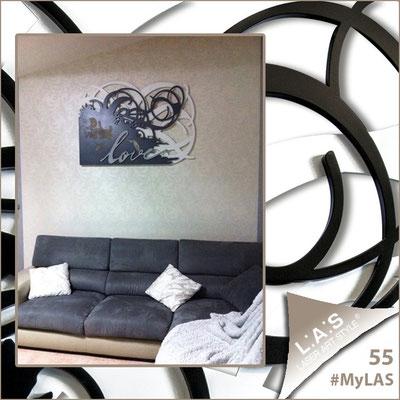 A casa di Amalia <br> Abitazione privata | Italia </br> Codice: SI-211 | Misura: 150x100 cm </br>  **PERSONALIZZATO** Colore: bianco - antracite - argento
