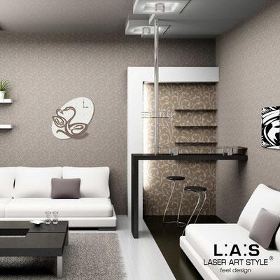 Wall clocks </br> Code: SI-241OR | Size: 68x68 cm </br> Colour: cream-dove grey