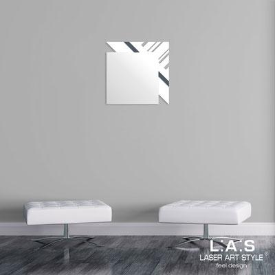 Specchiere </br> Codice: SI-358 | Misura: 60x60 cm </br>  Colore: bianco-antracite