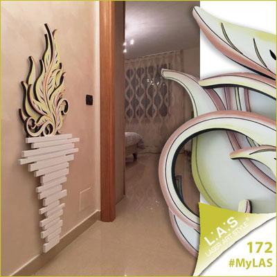 Abitazione privata | Italia </br> Codice: SI-191-H | Misura: 63x136 cm </br> Colore: bianco-decoro toni caldi