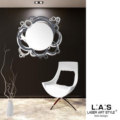 Specchiere </br> Codice: SI-204Q-SP | Misura: 90x85 cm </br>  Colore: bianco-antracite-argento