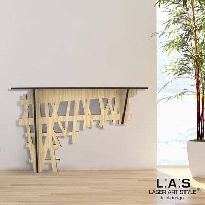 Complementi d'arredo </br> Codice: W-385 | Misura: 120x40 h80 cm </br> Colore: natural wood