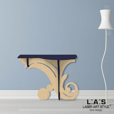 Furnishings </br> Code: MW-286   Size: 120x40 h80 cm </br> Colour: navy blue-natural wood