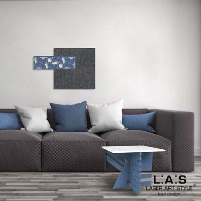Quadri Astratti </br> Codice: SI-351 | Misura: 75x50 cm </br> Colore: decoro concrete-blu distante-incisione legno