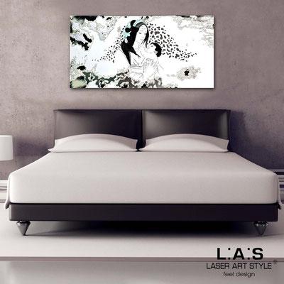 Quadri Sacri </br> Codice: SI-104 | Misura: 122x60 cm  </br>  Colore: bianco-decoro nero foglia argento-incisione legno