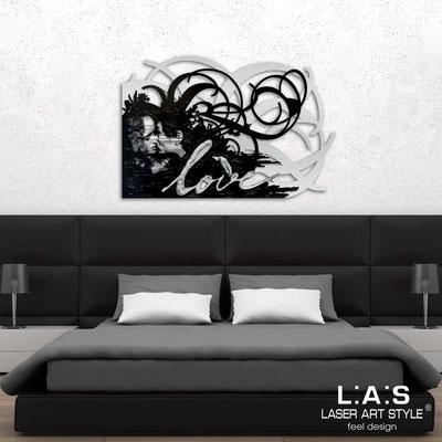 Figurative wall sculpture </br> Code: SI-211 | Size: 150x100 cm </br> Colour: silver-black-grey decoration-cream engraving