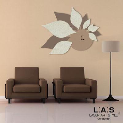 Wall clocks </br> Code: SI-210 | Size: 115x89 cm </br> Colour: hazel-dove grey-original crystals-cream stucco decoration