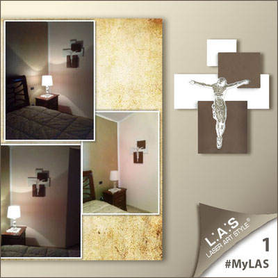A casa di Carmela <br> Abitazione privata | Italia </br> Codice: CR19 | Misura: 54x65 cm </br> Colore: bianco laccato - inserti bronzo