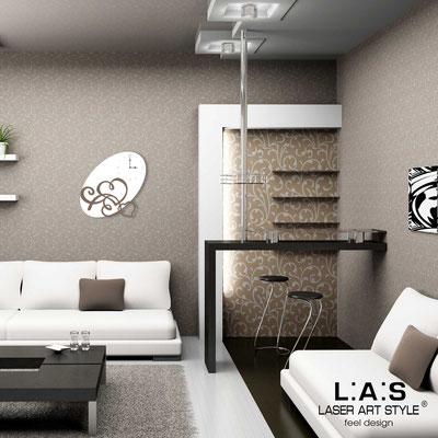 Wall clocks </br> Code: SI-243OR | Size: 68x68 cm </br> Colour: white-dove grey