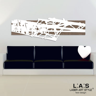 Quadri Astratti </br> Codice: SI-150 | Misura: 180x60 cm </br> Colore: grigio marrone-bianco-incisione legno