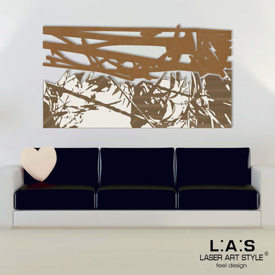 Abstract wall sculptures </br> Code: SI-149 | Size: 2pz 180x100 </br> Colour: bronze-cream-wood engraving