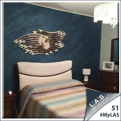 A casa di Luigi e Mariangela <br> Abitazione privata | Italia </br> Codice: SI-160 | Misura: 165x73 cm </br> Colore: panna - applicazione grigio marrone