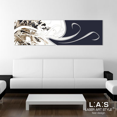 Abstract wall sculptures </br> Code: SI-091-B | Size: 180x58 cm </br> Colour: white-navy blue-black engraving