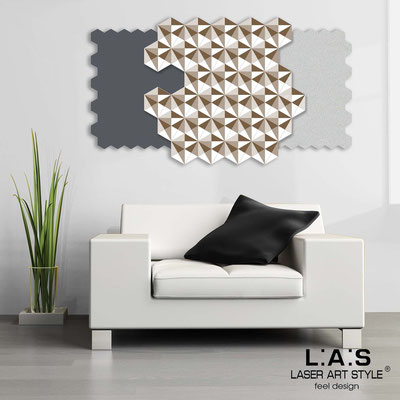 Abstract wall sculptures </br> Code: SI-142 | Size: 125x70 cm </br> Colour: charcoal grey-silver-white-wood engraving