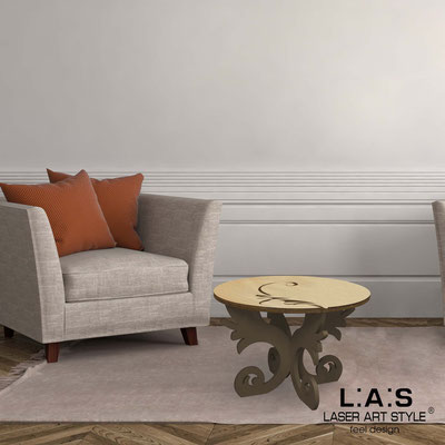 Furnishings </br> Code: MW-288   Size: 60x60 h40 cm </br> Colour: natural wood-brown